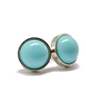 TURQUOISE STUD EARRINGS